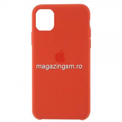 Husa iPhone 11 Pro Silicon Portocaliu