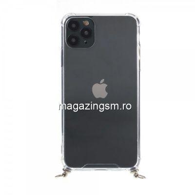 Husa iPhone 11 Pro TPU Cu Snur Verde
