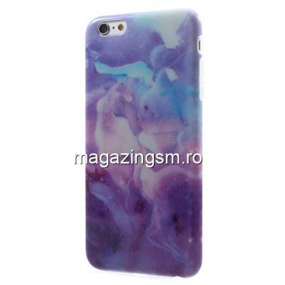 Husa iPhone 6 6s Tpu Marble Pattern Albastra