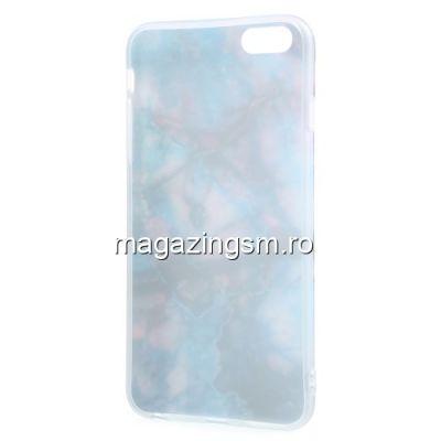 Husa iPhone 6 / 6S TPU Marble Pattern Albastra
