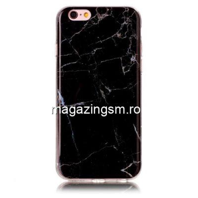 Husa iPhone 6s / 6 TPU Marble Pattern Neagra
