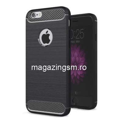 Husa iPhone 6 Plus Carbon Neagra