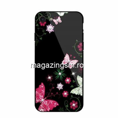 Husa iPhone 7 / 8 Cu Spate Din Sticla Neagra