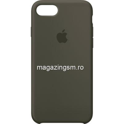 Husa iPhone 7 / 8 Silicon Dark Olive