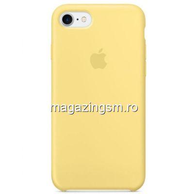 Husa iPhone 7 / 8 Silicon Galben Deschis