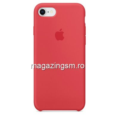 Husa iPhone 7 Silicon Roz Inchis