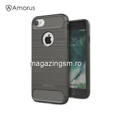 Husa iPhone 7 / 8 TPU Carbon Neagra