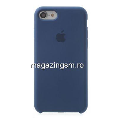 Husa iPhone 8 Silicon Albastru Inchis