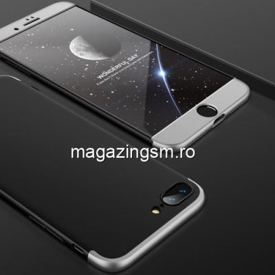 Husa iPhone 7 Plus / 8 Plus Acoperire Completa 360 De Grade Neagra