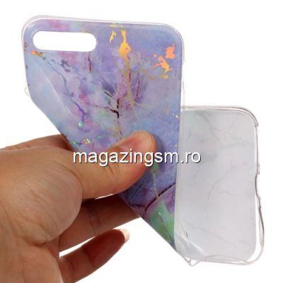 Husa iPhone 7 Plus / 8 Plus TPU Marble Pattern Albastra