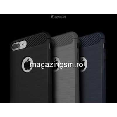 Husa iPhone 7 Plus Carbon Neagra