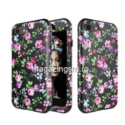 Husa iPhone 8 / 7 Acoperire Completa Model Flori