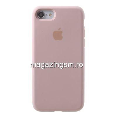Husa iPhone 8 / 7 Silicon Roz Aurie