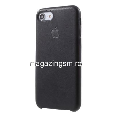 Husa iPhone 7 Dura Neagra Apple Logo