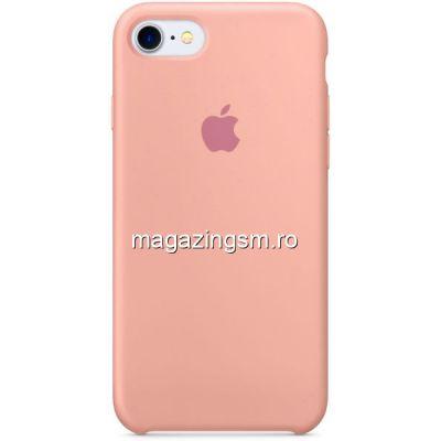 Husa iPhone 7 Silicon Roz Prafuit