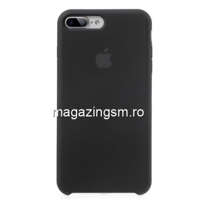 Husa iPhone 8 Plus / 7 Plus Silicon Neagra