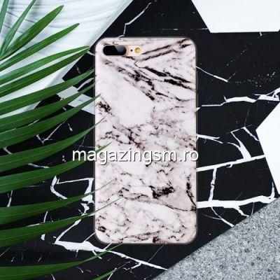 Husa iPhone 8 Plus / 7 Plus TPU Marble Pattern Alba