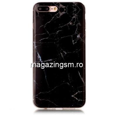 Husa iPhone 8 Plus / 7 Plus TPU Marble Pattern Neagra