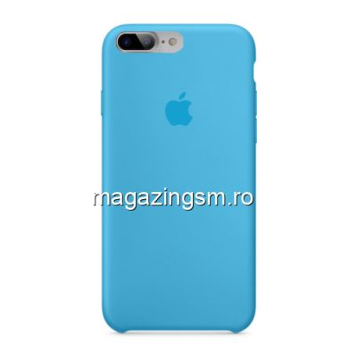 Husa iPhone 8 Plus Silicon Albastru Deschis