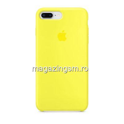 Husa iPhone 8 Plus / iPhone 7 Plus Silicon Galben Deschis