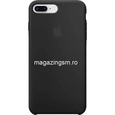 Husa iPhone 8 Plus / iPhone 7 Plus Silicon Neagra