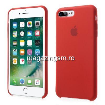 Husa iPhone iPhone 7 Plus Silicon Rosu Aprins