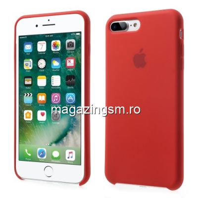 Husa iPhone iPhone 8 Plus Silicon Rosu Aprins