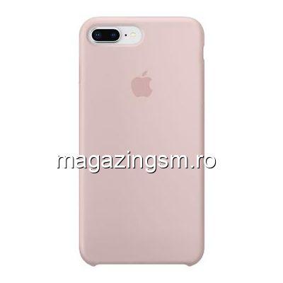 Husa iPhone iPhone 7 Plus Silicon Roz Auriu