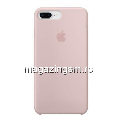 Husa iPhone 8 Plus Silicon Roz Auriu