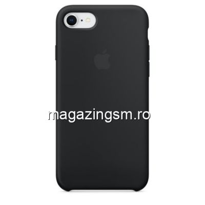 Husa iPhone 8 / iPhone 7 Silicon Neagra