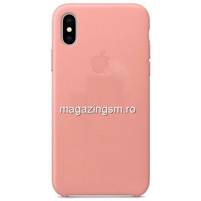 Husa iPhone X / iPhone Xs Silicon Roz Prafuit