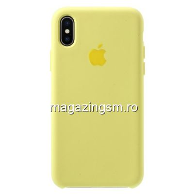 Husa iPhone X / XS Silicon Galbena
