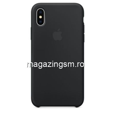 Husa iPhone XS Silicon Neagra