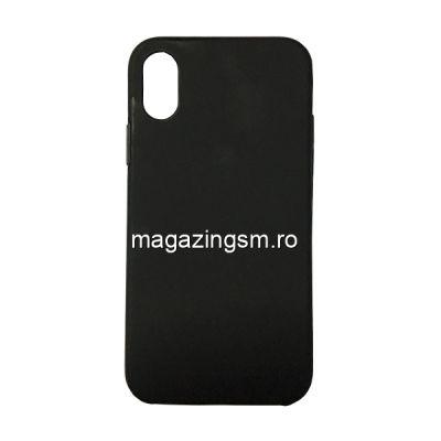 Husa iPhone X Acoperire Completa 360 De Grade Neagra