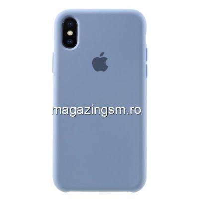 Husa iPhone X / XS Silicon Albastru Deschis