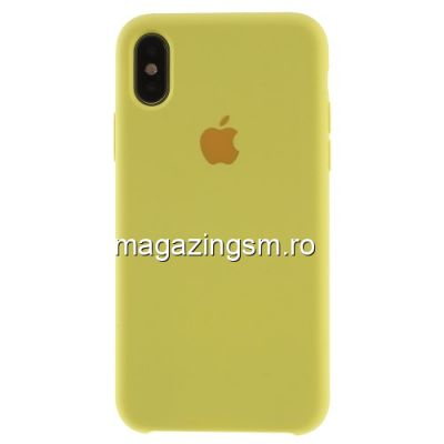 Husa iPhone XS Silicon Galbena