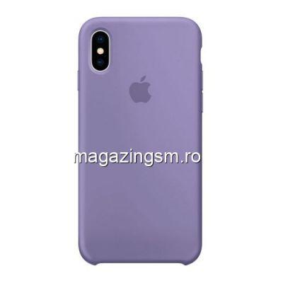 Husa iPhone X Silicon Mov Deschis