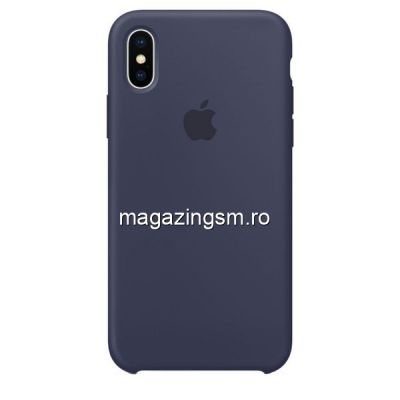 Husa iPhone X / XS Silicon Midnight Blue