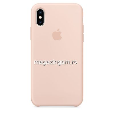 Husa iPhone X / XS Silicon Pink Sand