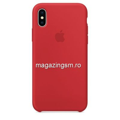 Husa iPhone XS Silicon Rosie