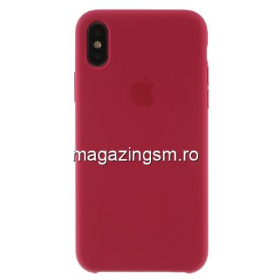 Husa iPhone XS Silicon Roz