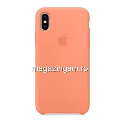 Husa iPhone X Silicon Roz Piersica