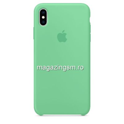 Husa iPhone XS Silicon Verde Deschis