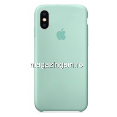 Husa iPhone XS Silicon Turcoaz