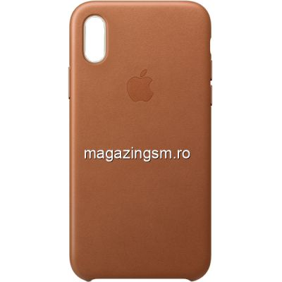 Husa iPhone XR Piele Saddle Brown