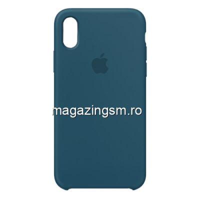 Husa iPhone XR Silicon Albastra