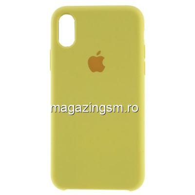 Husa iPhone XR Silicon Galbena