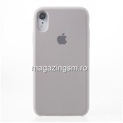 Husa iPhone XR Silicon Roz Auriu