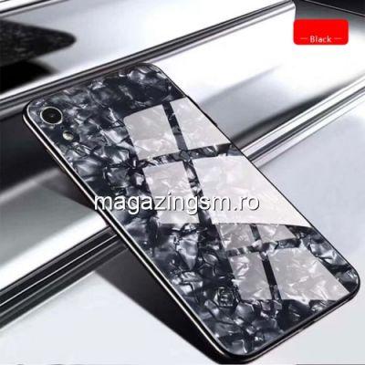 Husa iPhone XR TPU Cu Spate Din Sticla Neagra