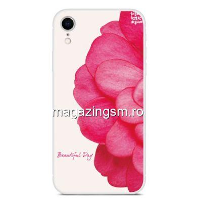 Husa iPhone XR TPU Model Floare Rosie